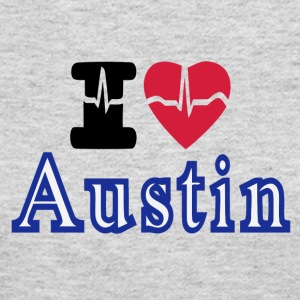 Love Austin Heart - Women's Long Sleeve Jersey T-Shirt