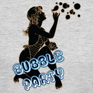 BUBBLE_PARTY_WITH_SEXY_GIRL_BLACK - Women's Long Sleeve Jersey T-Shirt