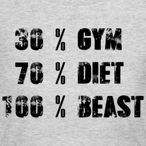30% Gym - 70% Diet - 100% Beast - Women's Long Sleeve Jersey T-Shirt