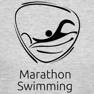 Marathon_swimming_black - Women's Long Sleeve Jersey T-Shirt