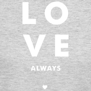 Love Always - Stacked w/ A Heart (White Letters) - Women's Long Sleeve Jersey T-Shirt