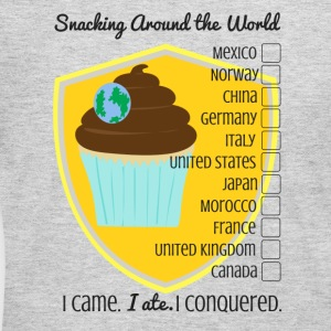 Snacking Around the World - Women's Long Sleeve Jersey T-Shirt