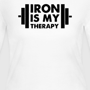 Iron is My Therapy - Women's Long Sleeve Jersey T-Shirt
