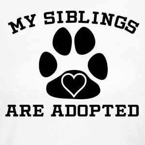 My Siblings Are Adopted - Women's Long Sleeve Jersey T-Shirt