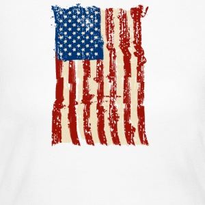 4th of July Independence Celebration American Flag - Women's Long Sleeve Jersey T-Shirt