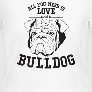 All You Need Is Love and Bulldog Dog - Women's Long Sleeve Jersey T-Shirt