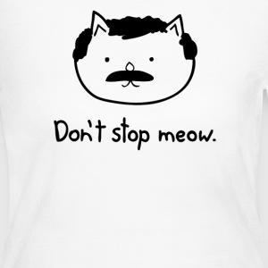 Dont Stop Cat - Women's Long Sleeve Jersey T-Shirt