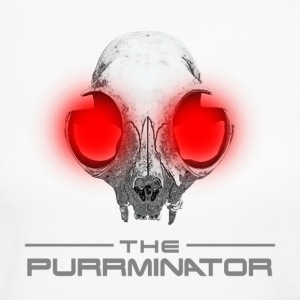 THE PURRMINATOR LOGO W/SKULL - Women's Long Sleeve Jersey T-Shirt