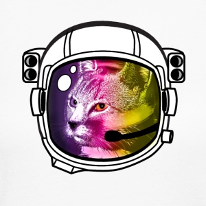 astronaut rainbow cat kitty sci-fi space helmet Lo - Women's Long Sleeve Jersey T-Shirt