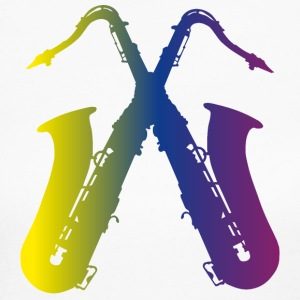 two colorful saxophones - Women's Long Sleeve Jersey T-Shirt