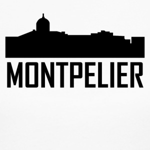 Montpelier Vermont City Skyline - Women's Long Sleeve Jersey T-Shirt