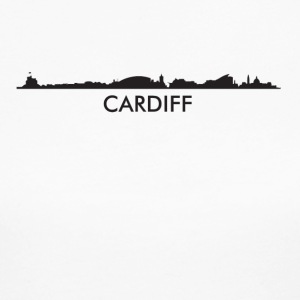 Cardiff Wales Skyline - Women's Long Sleeve Jersey T-Shirt