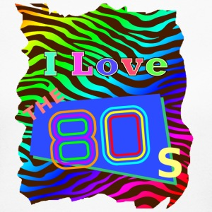 I love the 80s 001 - Women's Long Sleeve Jersey T-Shirt