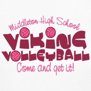 Middleton High School VIKING VOLLEYBALL Come and g - Women's Long Sleeve Jersey T-Shirt