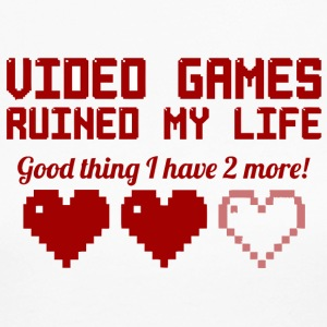 Video Games Ruined My Life vectorized - Women's Long Sleeve Jersey T-Shirt