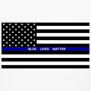 BLUE LIVES MATTER Flag - Women's Long Sleeve Jersey T-Shirt
