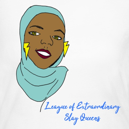 Hijabi Slay Queen - Women's Long Sleeve Jersey T-Shirt