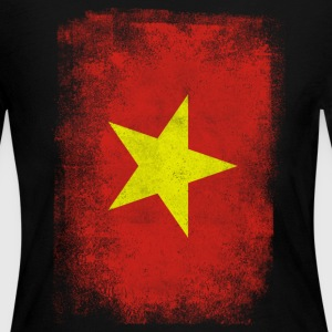 Vietnam Flag Proud Vietnamese Vintage Distressed - Women's Long Sleeve Jersey T-Shirt