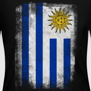 Uruguay Flag Proud Uruguayan Vintage Distressed Sh - Women's Long Sleeve Jersey T-Shirt