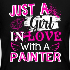 Girl In Love With A Painter Shirt - Women's Long Sleeve Jersey T-Shirt