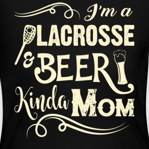 I'm A Lacrosse And Beer Kinda Mom T Shirt - Women's Long Sleeve Jersey T-Shirt