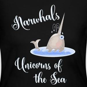 Narwhals Unicorns of the Sea - Women's Long Sleeve Jersey T-Shirt