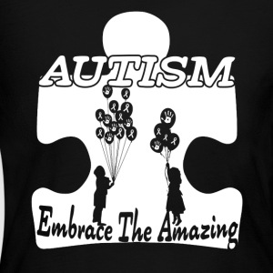 AUTISM EMBRACE THE AMAZING SHIRT - Women's Long Sleeve Jersey T-Shirt