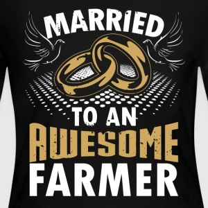 Married To An Awesome Farmer - Women's Long Sleeve Jersey T-Shirt