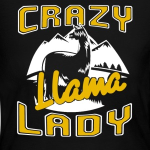 Crazy Llama Lady Shirt - Women's Long Sleeve Jersey T-Shirt