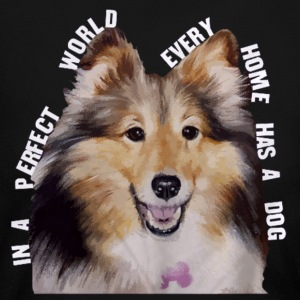 Shetland Sheepdog In Every Home - Women's Long Sleeve Jersey T-Shirt