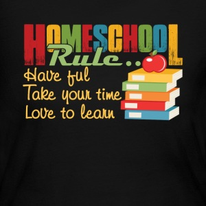 FUN HOMESCHOOL RULES SHIRT - Women's Long Sleeve Jersey T-Shirt
