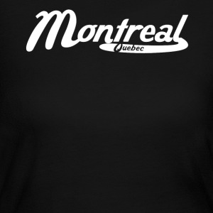 Montreal Quebec Canada Vintage Logo - Women's Long Sleeve Jersey T-Shirt