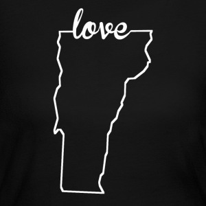 Vermont Love State Outline - Women's Long Sleeve Jersey T-Shirt
