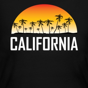 California Sunset And Palm Trees Beach Vacation - Women's Long Sleeve Jersey T-Shirt