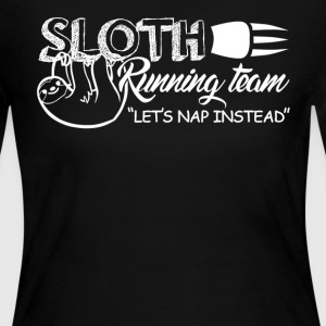 Sloth Running Team Shirt - Women's Long Sleeve Jersey T-Shirt
