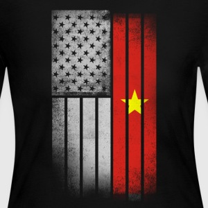 Vietnamese American Flag - Women's Long Sleeve Jersey T-Shirt