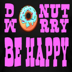 Donut Worry Be Happy - Women's Long Sleeve Jersey T-Shirt