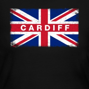 Cardiff Shirt Vintage United Kingdom Flag T-Shirt - Women's Long Sleeve Jersey T-Shirt