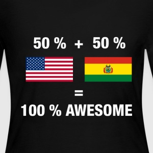 Bolivian American Half Bolivia Half America Flag - Women's Long Sleeve Jersey T-Shirt