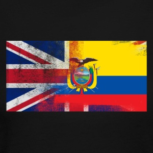 British Ecuadorian Half Ecuador Half UK Flag - Women's Long Sleeve Jersey T-Shirt