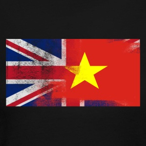 British Vietnamese Half Vietnam Half UK Flag - Women's Long Sleeve Jersey T-Shirt