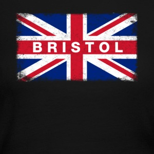 Bristol Shirt Vintage United Kingdom Flag T-Shirt - Women's Long Sleeve Jersey T-Shirt