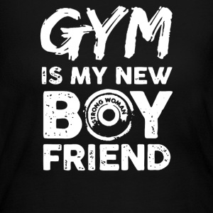 GYM IS MY NEW BOYFRIEND - Women's Long Sleeve Jersey T-Shirt