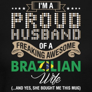 Im A Proud Husband Of A Freaking Awesome Brazilian - Women's Long Sleeve Jersey T-Shirt