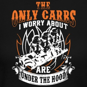 The Only Carbs I Worry About Are Under The Hood - Women's Long Sleeve Jersey T-Shirt