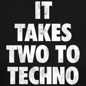 It takes two to techno - Women's Long Sleeve Jersey T-Shirt