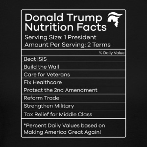 Donald Trump Nutrition Facts Make America Great - Women's Long Sleeve Jersey T-Shirt
