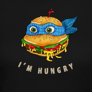 hamburger turtle fast food pizza humor fun comic h - Women's Long Sleeve Jersey T-Shirt