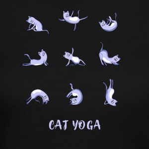 cat yoga blue yoga namaste shiva woman fun buddha - Women's Long Sleeve Jersey T-Shirt