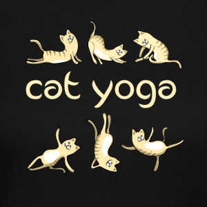 yoga Cat kitty gym fun humor meditation namaste lo - Women's Long Sleeve Jersey T-Shirt